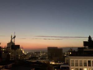 テラッツァ12から見た夕焼け