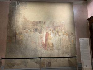 元々教会の外側にあったフレスコ画